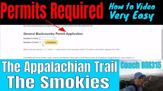 Permits for The Appalachian Trail & The Smokies