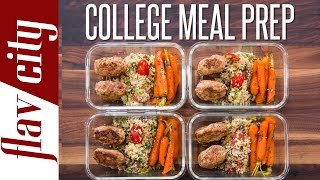 I'm showing how to meal prep as a college student but do it in healthy and easy way. my for the week has turkey kebabs with two veggies. ...