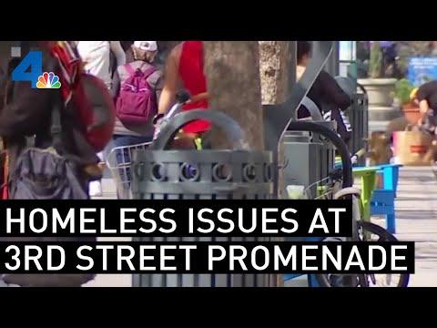 Santa Monica Third Street Facing Homeless Problem, Along With Economic Struggles   NBCLA