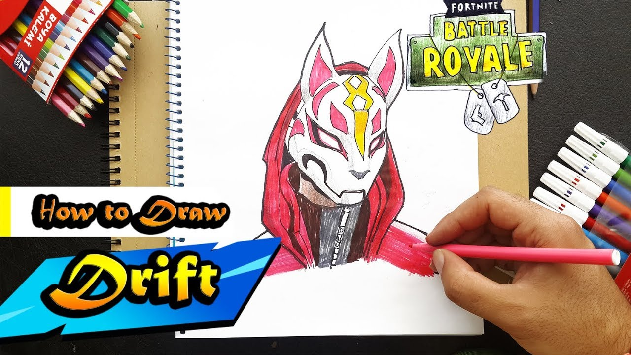 How To Draw Drift From Fortnite Battle Royal Art Tutorial Step