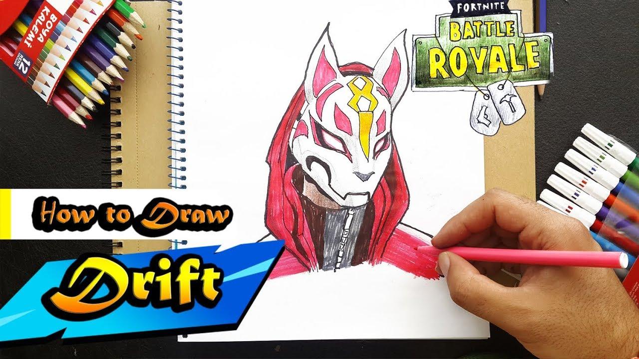 How To Draw drift From Fortnite |  BATTLE ROYAL  |  Art Tutorial (step by step) Fortnite çizim #1