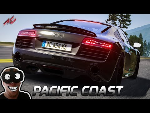 Highway California | Assetto Corsa German Gameplay [GER] [VR] Audi R8 @ Pacific Coast