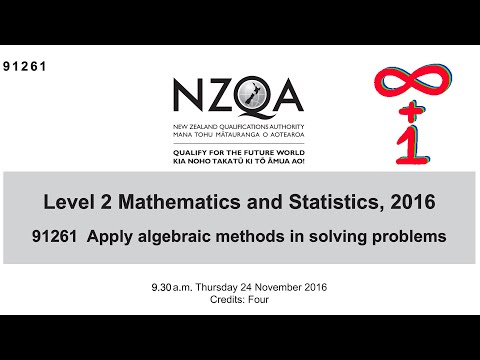 91261 2.6 Algebra 2016 NZQA Exam - Worked Answers
