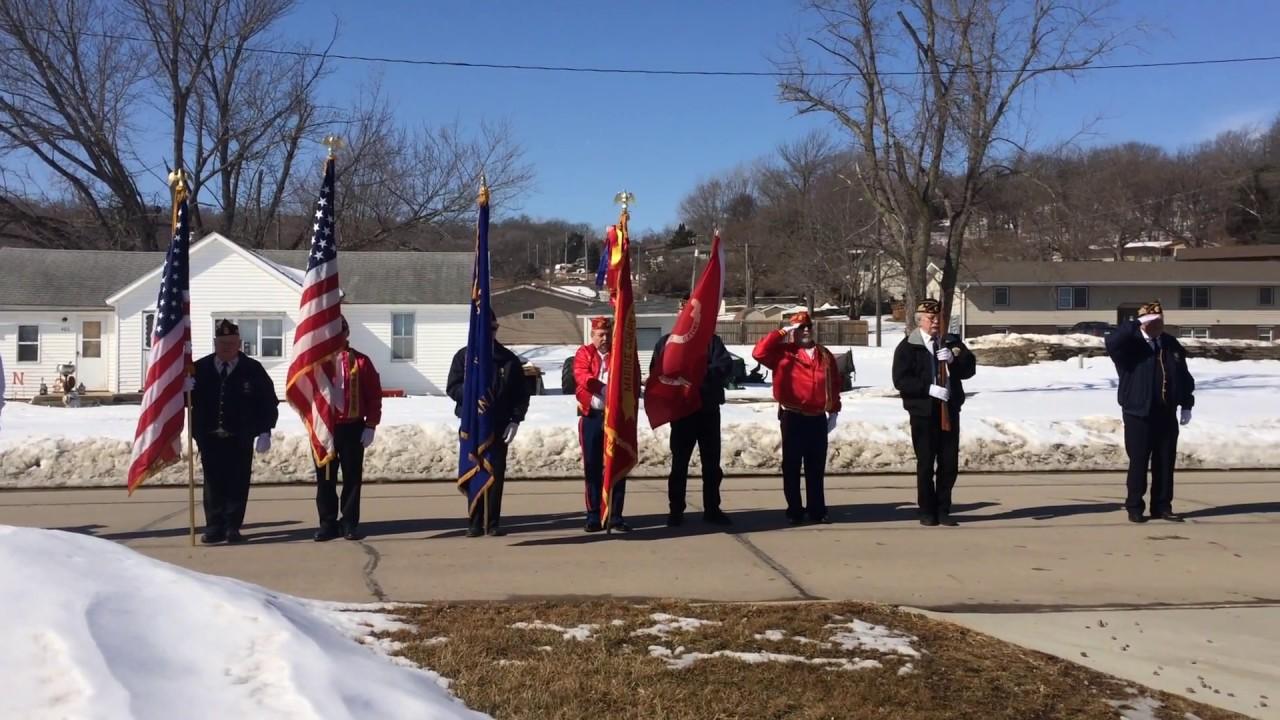 Honor Guard members from Iowa and Nebraska conduct military rites