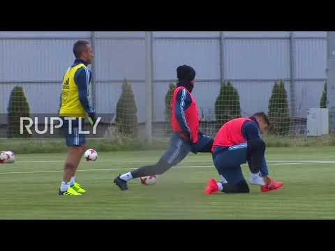 Russia: Messi leads Argentine training session in Moscow