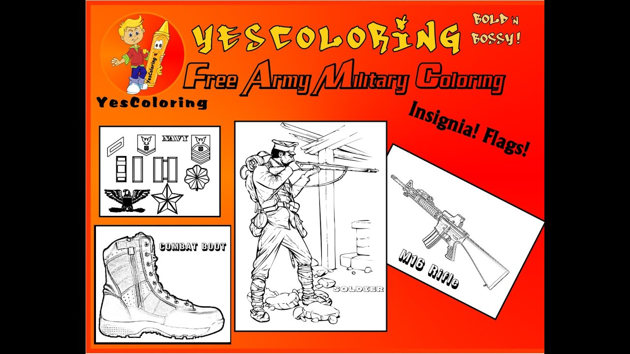 fearless army coloring pages