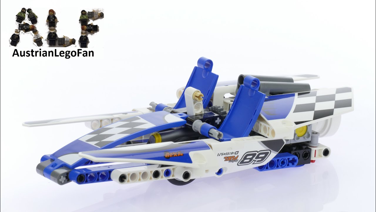 Lego Technic 42045 Race Boat Lego Speed Build Review Youtube