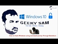 Hack Any Windows using command prompt through Backdoor entry #GeekySam