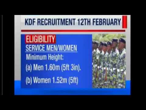 KENYA DEFENSE FORCES RECRUITMENT 2018