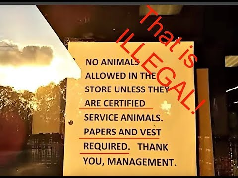 Service Dog Access Issue - THAT'S ILLEGAL