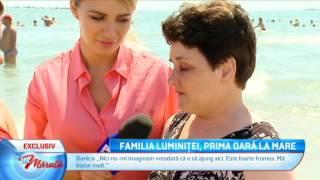 Familia Luminitei, prima oara la mare