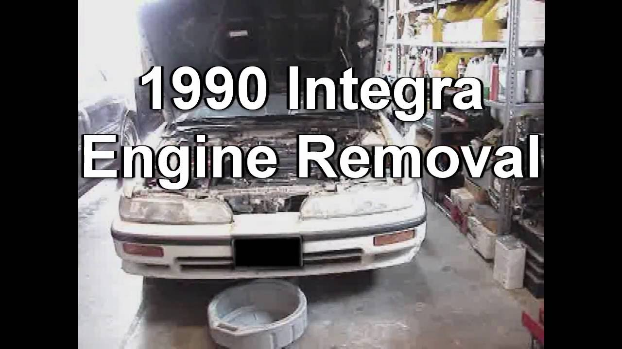 Remove Engine Overview Acura Integra YouTube - 93 acura integra engine