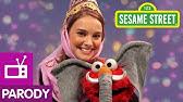 Sesame Street: Natalie Portman And Elmo Are Princess & Elephant