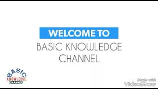 intro of Basic Knowledge channel
