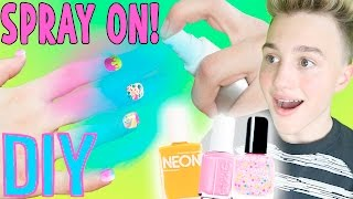 DIY SPRAY ON NAIL POLISH! | Nail Polish That You Can SPRAY!(DON'T FORGET TO SUBSCRIBE TO MY CHANNEL     http://bit.ly/1Hl2eMP                        GlitteForever17: https://www.youtube.com/user/GlitterForever17 Breland's ..., 2016-04-17T21:00:02.000Z)