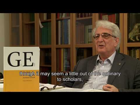 Brill's Dictionary of Ancient Greek - Franco Montanari Interview (full)
