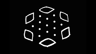 Easy Rangoli Design with 7X4 Dots | Kolam Designs | Muggulu Designs | Rangoli Designs | Rangoli