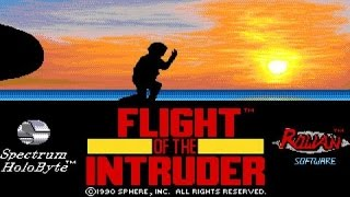 Flight of The Intruder gameplay (PC Game, 1990)