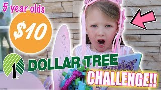 5 YEAR OLDS HILARIOUS DOLLAR TREE CHALLENGE!