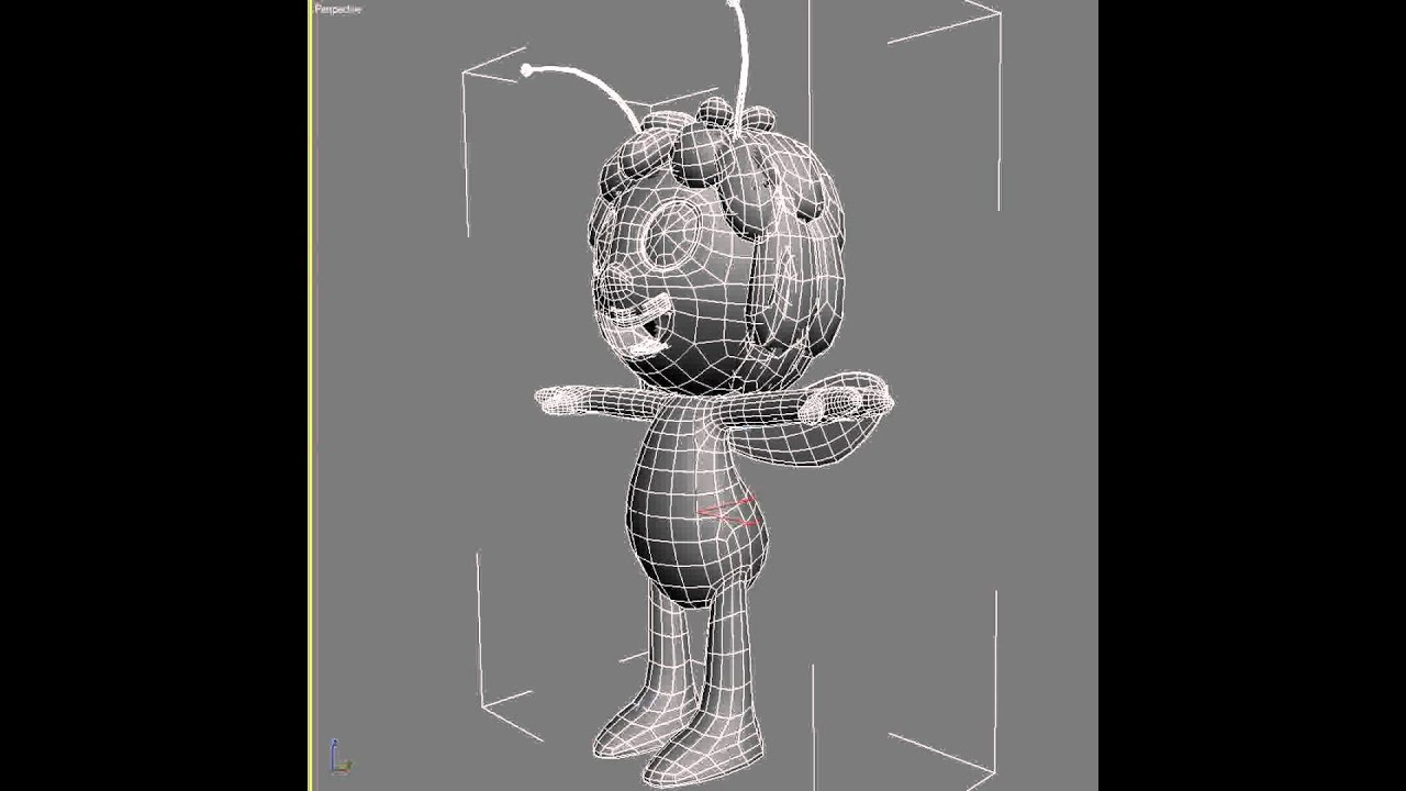 3d Model Of Maya The Bee Rigged Youtube