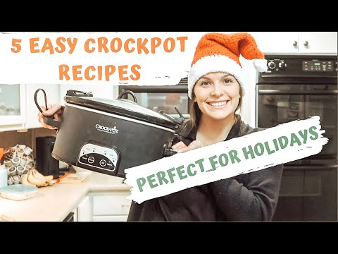 5 EASY CHRISTMAS CROCKPOT RECIPES: 5 INGREDIENTS OR LESS: THE SIMPLIFIED SAVER