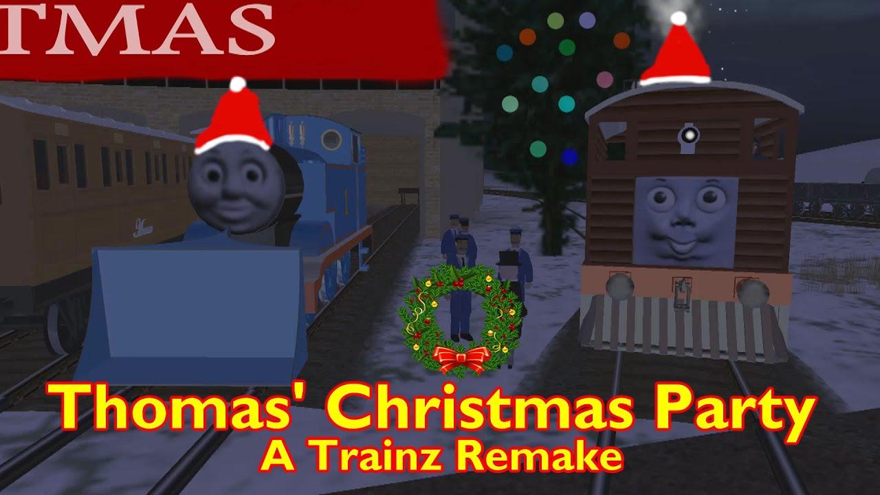 Thomas Christmas Party A Trainz Remake Youtube