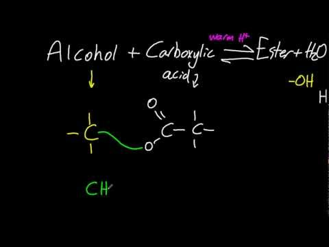 10.2 Reactions of alcohols with carboxylic acids to form esters + uses [SL IB Chemistry]