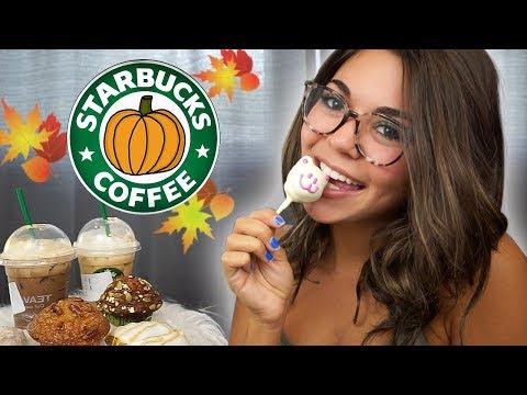 Trying Starbucks NEW Fall Drinks & Snacks