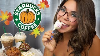 Trying Starbucks NEW Fall Drinks & Snacks