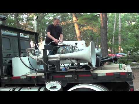 Air Horn Compressor >> Ship Horn Truck at TCSP.m4v - YouTube