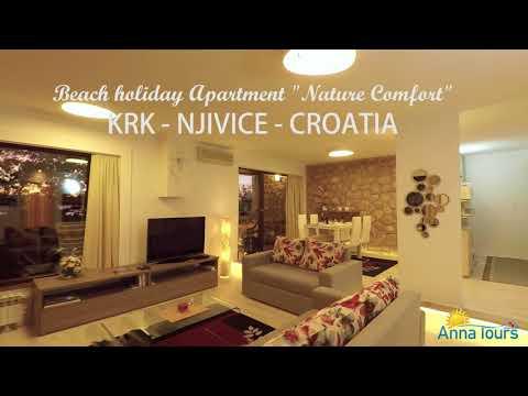 "Krk Njivice -  Beach Holiday Apartment ""Nature Comfort"" Croatia - GOPRO"