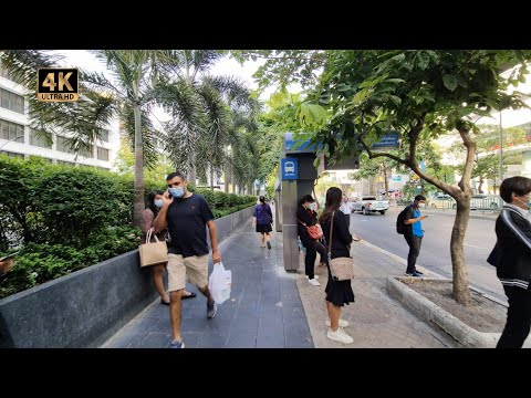 Bangkok - Si Lom Walk - Chong Nonsi to Saladaeng - Patpong 4K