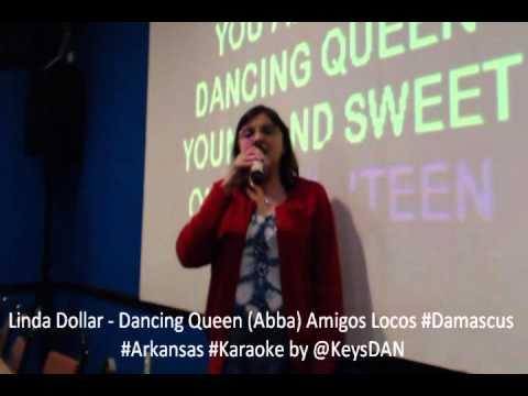 Linda Dollar   Dancing Queen Abba Amigos Locos #Damascus #Arkansas #Karaoke by @KeysDAN