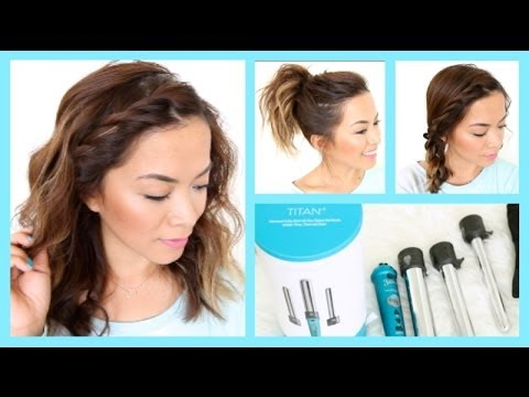 3 Easy Summer Hairstyles for Short Hair ♡ ThatsHeart - YouTube