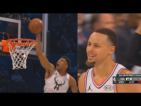 Stephen Curry Craziest Alley-Oop To Giannis Antetokounmpo Shocks Entire Crowd! 2019 All-Star Game