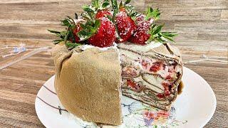 БЛИННЫЙ ТОРТ  (Рецепт блинов и торта) ТОРТ БЕЗ ВЫПЕЧКИ из блинов со сливками