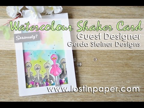 Guest Designer -  Gerda Steiner Designs - Watercolour Shaker Card!