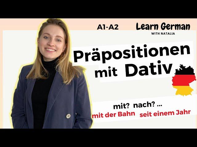 Präpositionen mit Dativ (2/7) II Preposition in German II Dative case II Learn German with Natalia