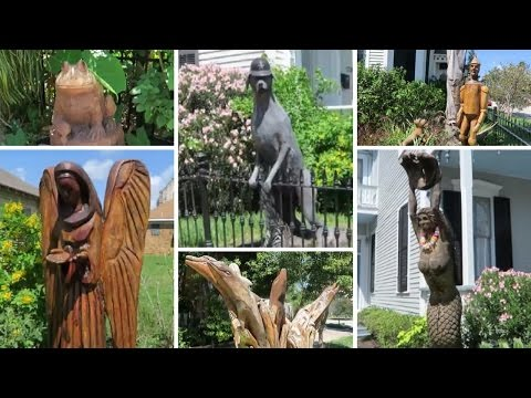 VLOG: BEAUTIFUL TREE SCULPTURES CARVED ON GALVESTON ISLAND/ CAN YOU TELL?