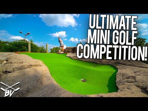 THE ULTIMATE MINI GOLF COMPETITION + SUPER LUCKY HOLE IN ONE!