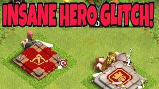 THE HERO GLITCH + BUILDER HUT GLITCH | Clash Of Clans