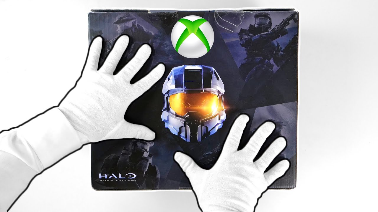 """Xbox One """"HALO"""" White Console Unboxing + Halo Infinite gameplay"""