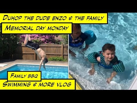 duhop Memorial Day holiday Family BBQ swimming and more vlog