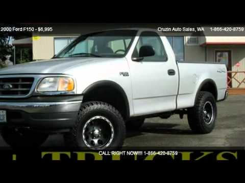 2000 ford f150 xl reg cab short bed 4wd for sale in tacoma wa 98444 youtube. Black Bedroom Furniture Sets. Home Design Ideas