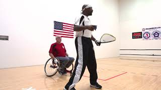 Racquetball training for veterans 6 of 12 - CEILING SHOTS