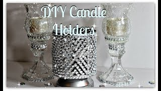 🍂💎🍂Bath And Body Works Inspired Candle Holders🍃💎🍃||Dollar Tree Bling DIY Candle Holder🍂💎🍂