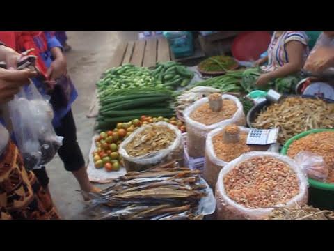 ตลาดยามเช้าพญาตองซู (Payatongsu city market the Union of the Myanmar)