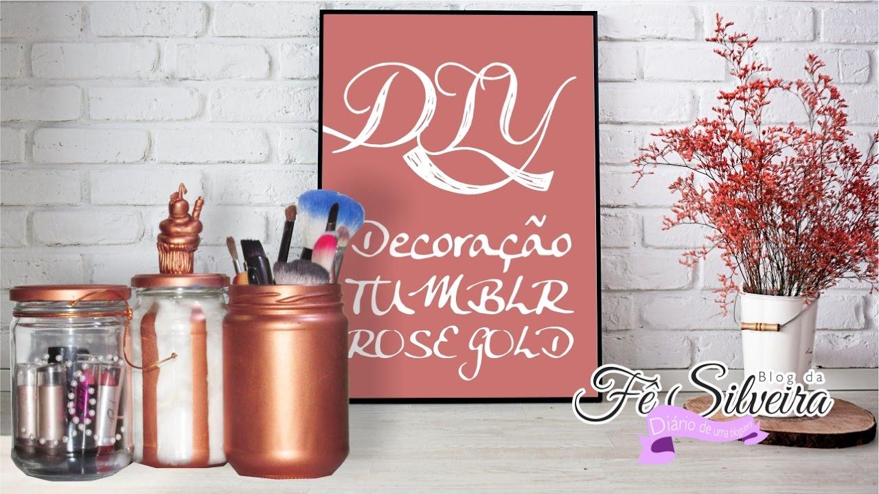 diy decora231227o tumblr rose gold reciclando ideias f234