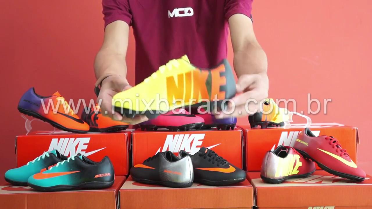 Chuteira Nike Mercurial Infantil - Mix Barato - YouTube 2a131b50856f3