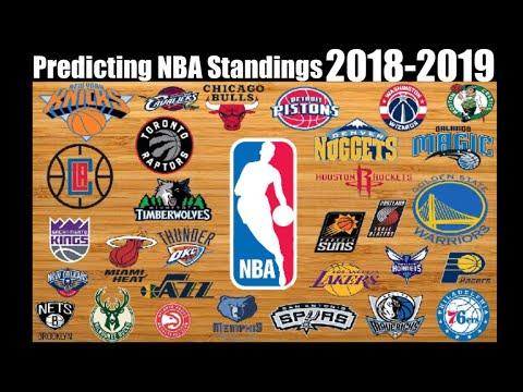 Predicting The 2018-2019 NBA Season Standings!! - YouTube